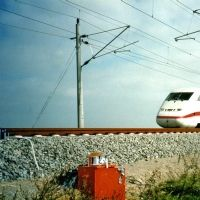 High speed railway line Hannover – Berlin near Stendal: Measurements of the vibration velocities of the railway during traffic
