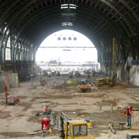 Dresden main station, design of high pressure grouting for foundation improvement and repair of flood damage